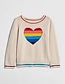 GAP Baby Rainbow Heart Pullover Sweater
