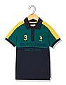 U.S. Polo Assn. Kids Boys Regular Fit Colour Blocked Polo Shirt
