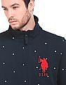 U.S. Polo Assn. Star Embroidered Zip Up Sweatshirt