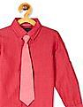 Cherokee Boys Patterned Shirt With Tie