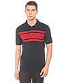 Ruggers Striped Front Regular Fit Polo Shirt