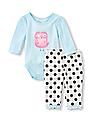 The Children's Place Baby Bodysuit And Knit Pants Set