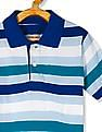 The Children's Place Toddler Boy Green Short Sleeve Striped Polo