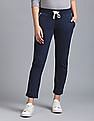 GAP Women Blue Drawstring Waist Track Pants