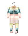GAP Baby Multi Colour Pastel Stripe Footed One-Piece