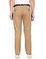 Arrow Sports Belted Slim Fit Trousers