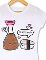 The Children's Place Girls White Short Sleeve 'You Are Soy Amazing' Sushi And Soy Sauce Graphic Tee