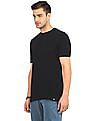Ruggers Black Round Neck Solid T-Shirt