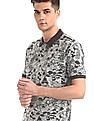 Cherokee Grey Muscle Fit Printed Polo Shirt