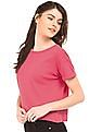 SUGR Ribbed Knit Boxy Top