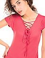 SUGR Lace Up Knitted Top