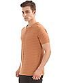 Cherokee Slim Fit Striped Henley T-Shirt