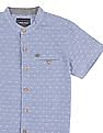 Cherokee Boys Mandarin Collar Short Sleeve Shirt