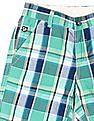 U.S. Polo Assn. Kids Boys Mid Rise Check Shorts