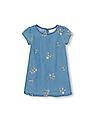 The Children's Place Toddler Girl Short Sleeve Embroidered Chambray Shift Dress