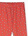 Cherokee Red Girls Polka Dot Print Leggings