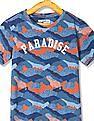 FM Boys Camouflage Printed T-Shirt