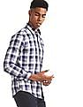 U.S. Polo Assn. Blue Spread Collar Check Shirt