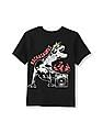 The Children's Place Boys Black Short Sleeve 'Rockasaurus' Dino Graphic Tee