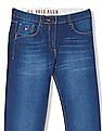 U.S. Polo Assn. Kids Girls Regular Fit Stone Wash Jeans