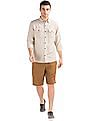 GAP Linen Cotton Utility Pocket Shirt