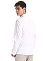 Colt White Roll Up Sleeve Solid Shirt