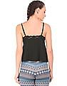 Aeropostale Lace Trim Cropped Camisole
