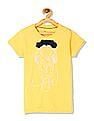 U.S. Polo Assn. Kids Yellow Girls Floral Corsage Slub T-Shirt