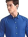 Excalibur Assorted Straight Hem Solid Shirt - Pack Of 2