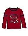 The Children's Place Toddler Boy Long Striped Sleeve Athletic Graphic Top