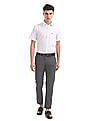 U.S. Polo Assn. Austin Trim Fit Printed Trousers
