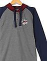 U.S. Polo Assn. Kids Boys Hooded Long Raglan Sleeve Sweatshirt