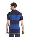 U.S. Polo Assn. Blue Tonal Stripe Pique Polo Shirt